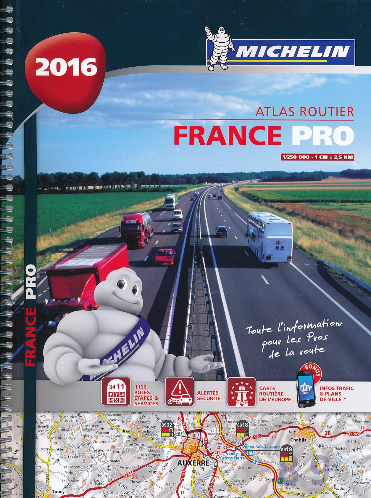 Wegenatlas Frankrijk PRO - France PRO 2016   Michelin