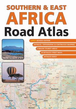 Wegenatlas Southern & East Africa Road Atlas - Zuidelijk en Oost Afrika   Mapstudio