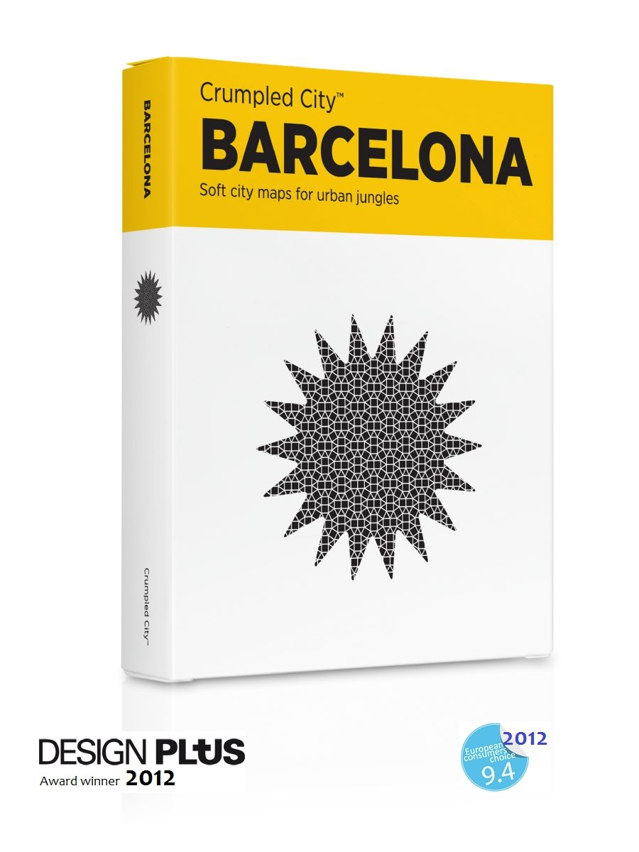 Crumpled City map Barcelona   Palomar