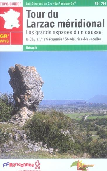 Wandelgids ref 734 Tour du Larzac Méridional   FFRP