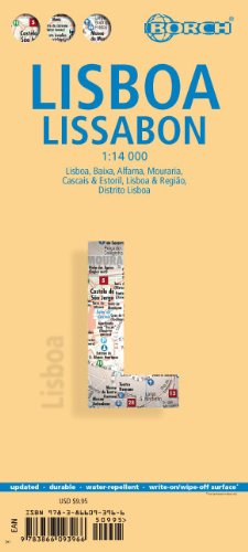 Stadsplattegrond Lissabon - Lisbon   Borch Maps