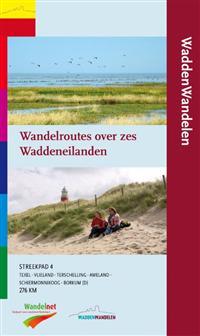 Wandelgids Waddenwandelen - wandelroutes over zes waddeneilanden  Streekpad 4   Wandelnet