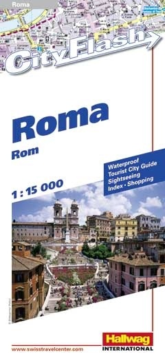 Stadsplattegrond City flash Rome   Hallwag