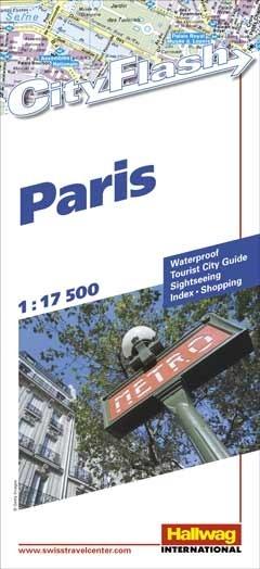 Stadsplattegrond Paris - Parijs   Hallwag