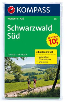 Wandelkaart 887 Schwarzwald Sud   Kompass