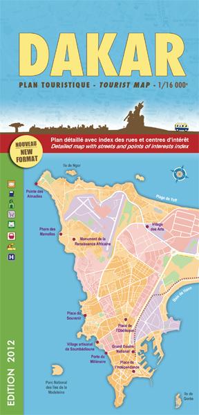 Plattegrond -  stadsplattegrond Dakar   Laure Kane