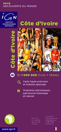 Wegenkaart Ivoorkust - Cote d'Ivoire   IGN