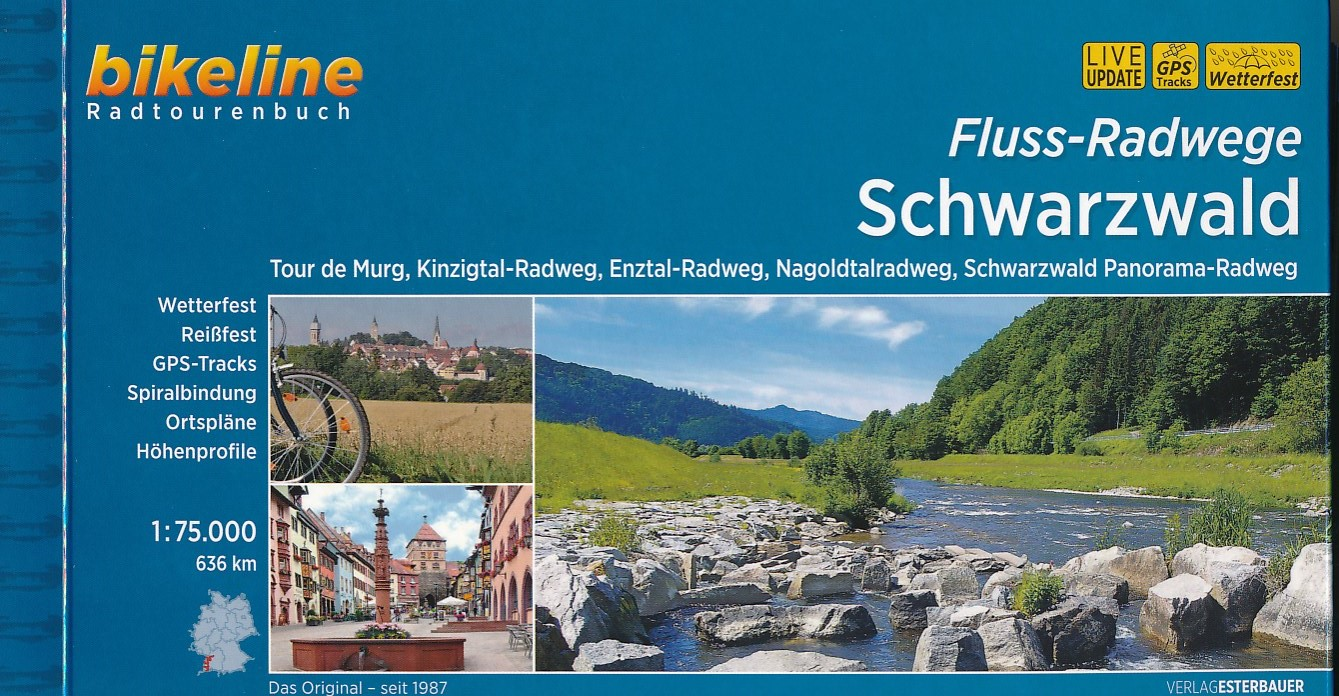Fietsgids Fluss-Radwege Schwarzwald - Zwarte Woud   Bikeline - Esterbauer