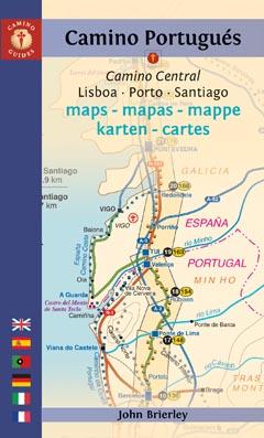Wandelkaart Camino Portugues Maps - Mapas - Karten   John Brierly   John Brierley