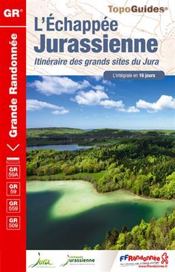 Wandelgids ref 390 Jura - L'échappée jurassienne   FFRP   Isabelle Lethiec