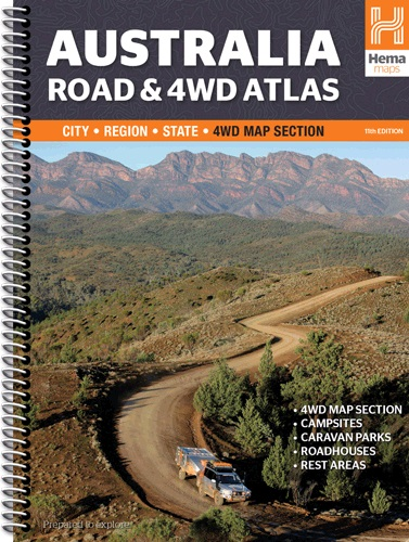 Wegenatlas Australië - Australia Road and 4WD Atlas   Hema    Hema Maps Staff