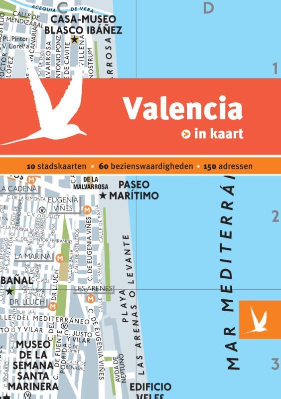 Reisgids + plattegrond Valencia in kaart   Dominicus