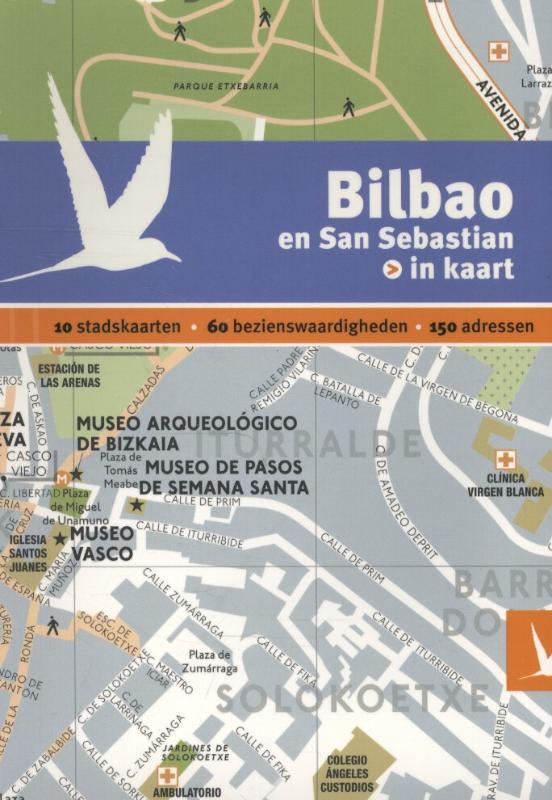Reisgids + plattegrond Bilbao en San Sebastian in kaart   Dominicus
