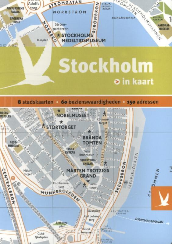 Reisgids + plattegrond Stockholm in kaart   Dominicus