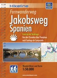 Wandelgids Wanderführer Fernwanderweg Jakobsweg Spanien   Hikeline