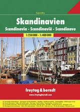 Wegenatlas Scandinavië - Skandinavien - Zweden Noorwegen Denemarken   Freytag und Berndt