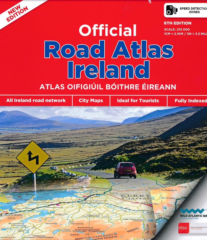 Wegenatlas official Roadatlas of Ireland - Ierland   Ordnance Survey