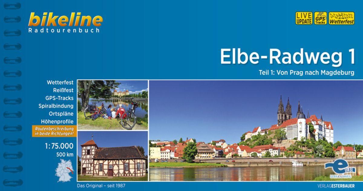Fietsgids Elbe Radweg 1 Praag - Maagdenburg   Bikeline