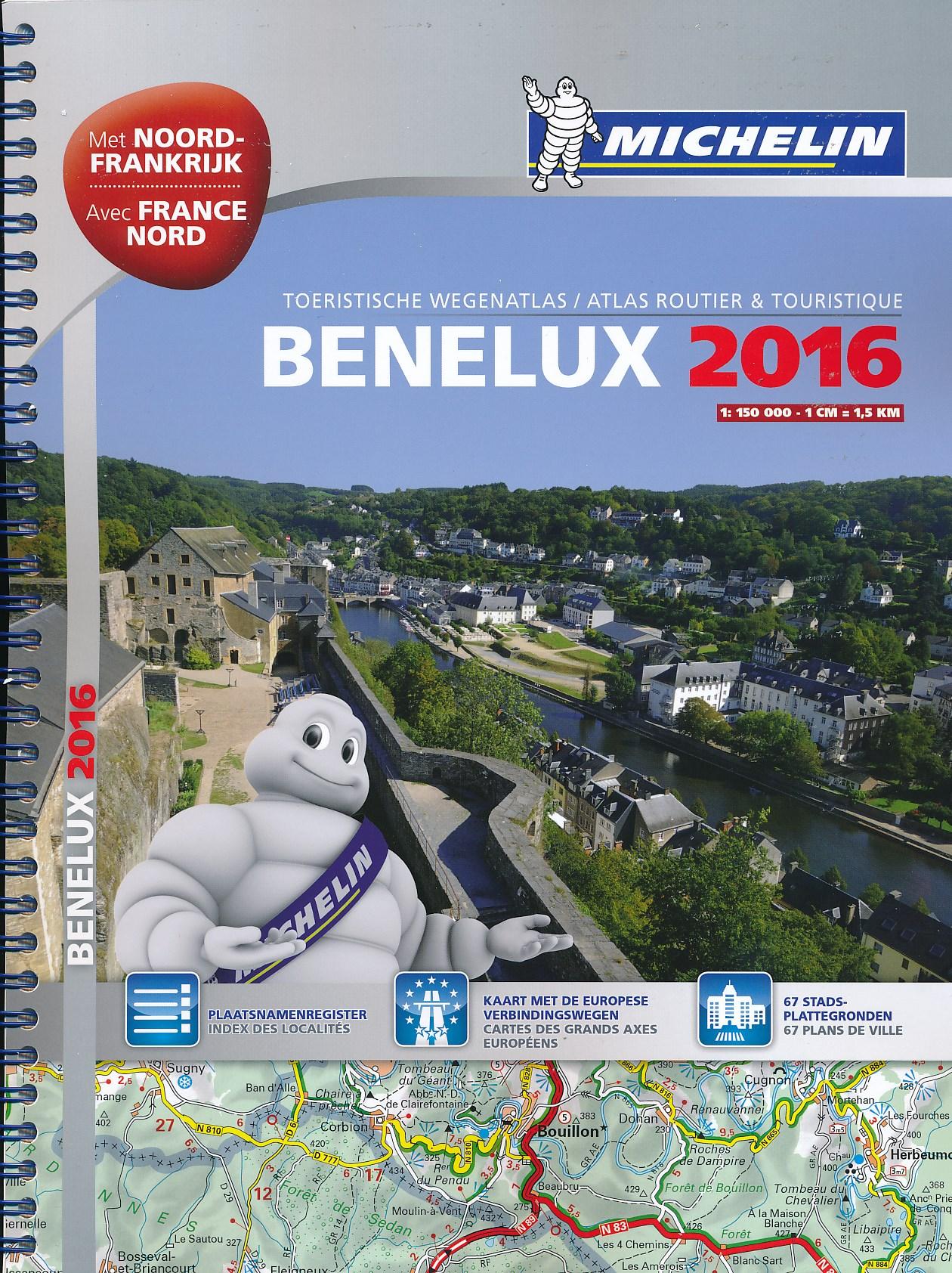 Wegenatlas Benelux 2016 - Nederland, België & Luxemburg - met noord Frankrijk   Michelin