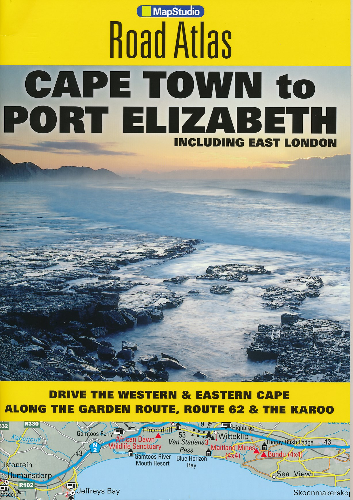 Wegenatlas Cape Town to Port Elizabeth Road Atlas   Mapstudio