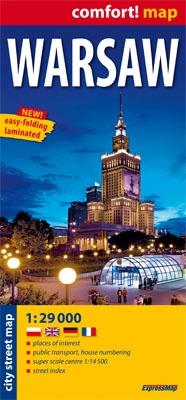 Stadsplattegrond Warsaw - Warschau   Express Map