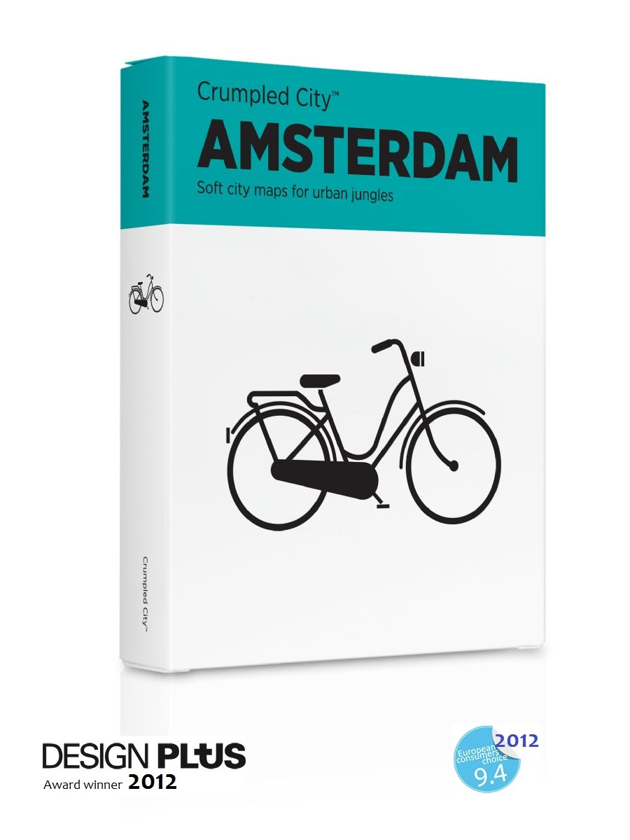 Crumpled City map Amsterdam   Palomar