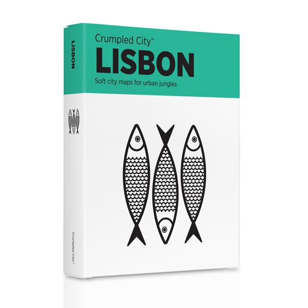 Crumpled city map Lisbon - Lissabon   Palomar   Emanuele Pizzolorusso