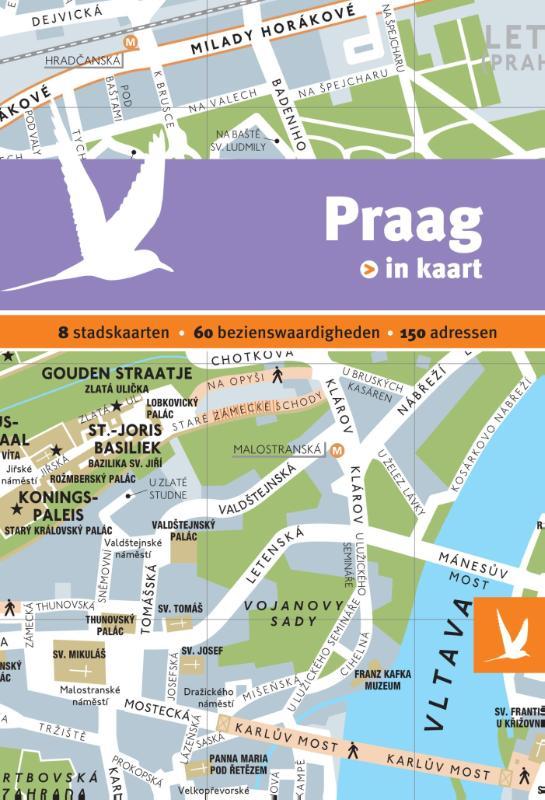 Reisgids + plattegrond Praag in kaart   Dominicus