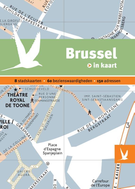 Reisgids + plattegrond Brussel in kaart   Dominicus
