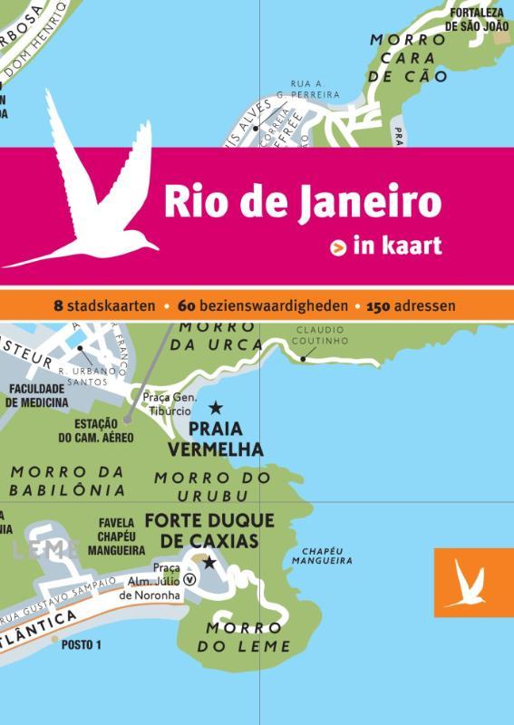 Reisgids + plattegrond Rio de Janeiro in kaart   Dominicus