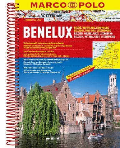 Wegenatlas Benelux   Marco Polo