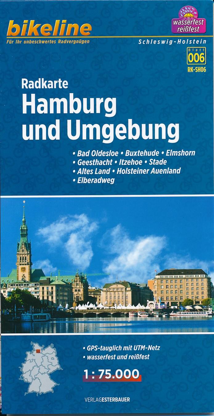 006 Fietskaart Radkarte Hamburg und umgebung SH06   Bikeline