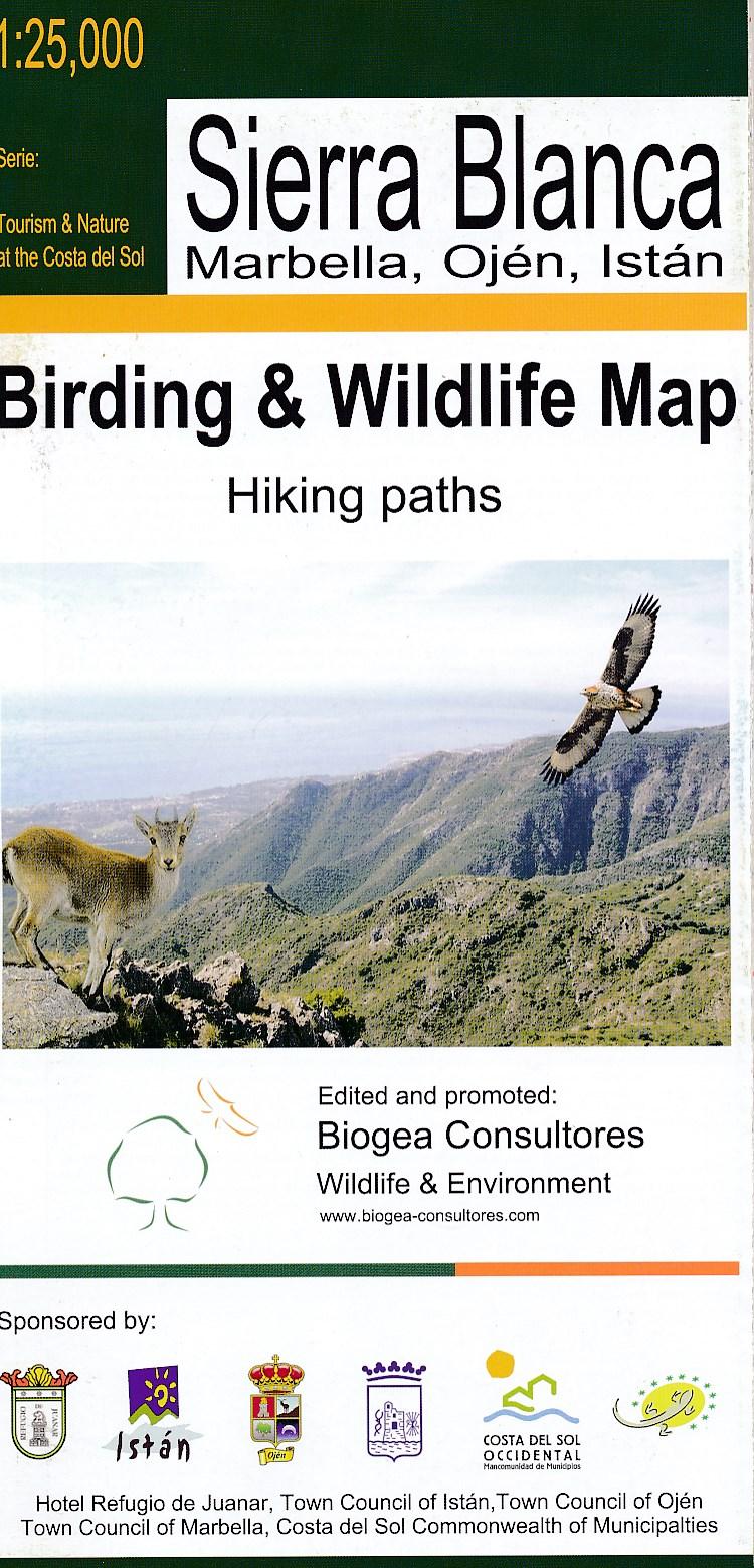 Vogelkaart Sierra Blanca   Tourism Costa del Sol