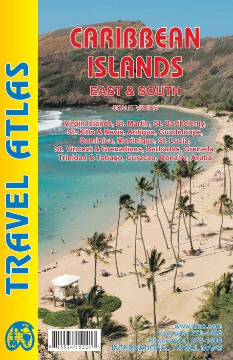 Wegenatlas Caribbean Island East Half   ITMB