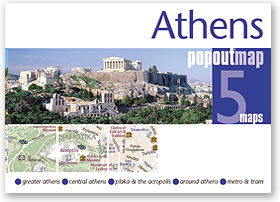 Plattegrond Athene Athens PopOut Map   Compass Maps