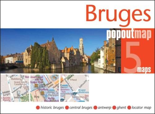 Plattegrond Brugge Bruges PopOut Map   Compass Maps