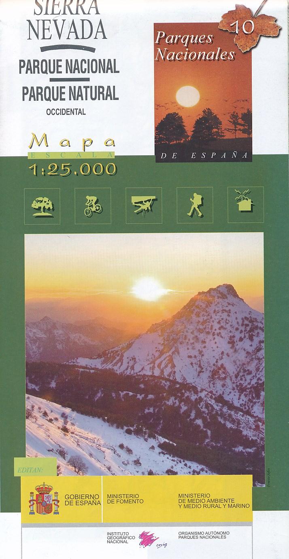 Wandelkaart Mapa-guía del Parque Nacional de Sierra Nevada   IGN   Instituto Geográfico Nacional (España),Centro Nacional de Información Geográfica (España),Organismo Autónomo Parques Nacionales (España)