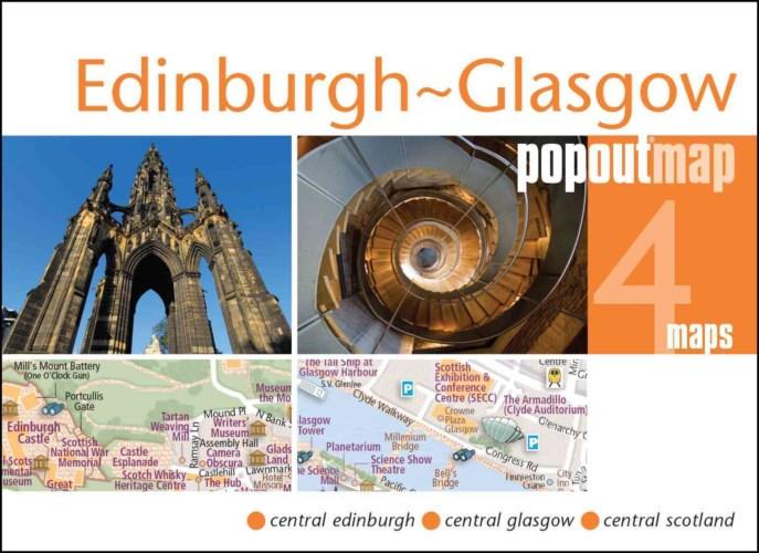 Plattegrond Edinburgh & Glasgow Popout Map   Compass Maps