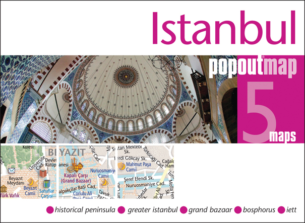 Plattegrond Istanbul Popout Map   Compass Maps
