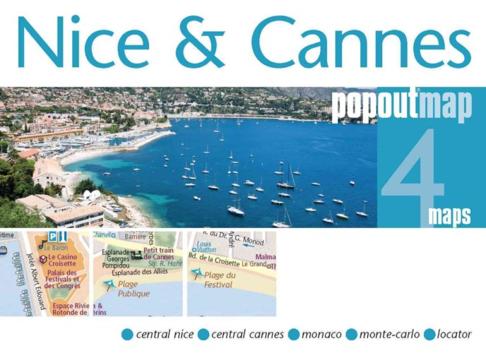 Plattegrond Nice & Cannes PopOut Map   Compass Maps