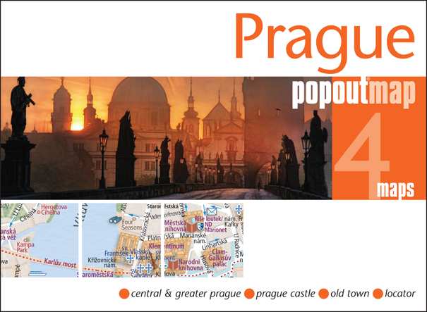 Plattegrond Praag Prague Popout Map   Compass Maps