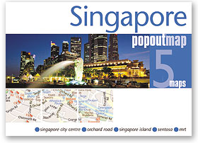 Plattegrond Singapore Popout Map   Compass Maps