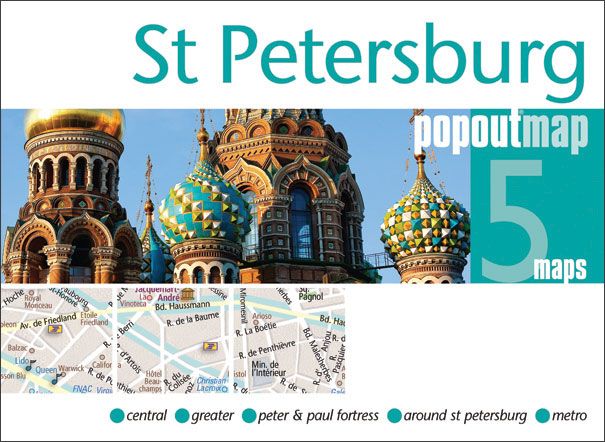 Plattegrond St Petersburg Popout Map   Compass Maps