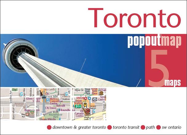 Plattegrond Toronto Popout Map   Compass Maps