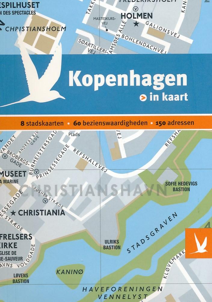 Reisgids + plattegrond Kopenhagen in kaart   Dominicus