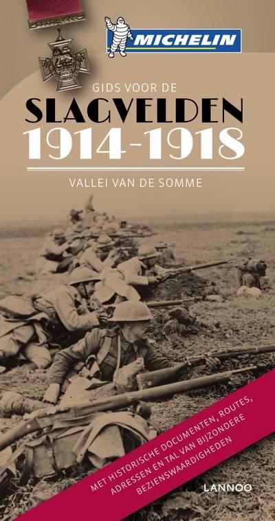 Reisgids De slagvelden van '14-'18 de Vallei van de Somme   Michelin