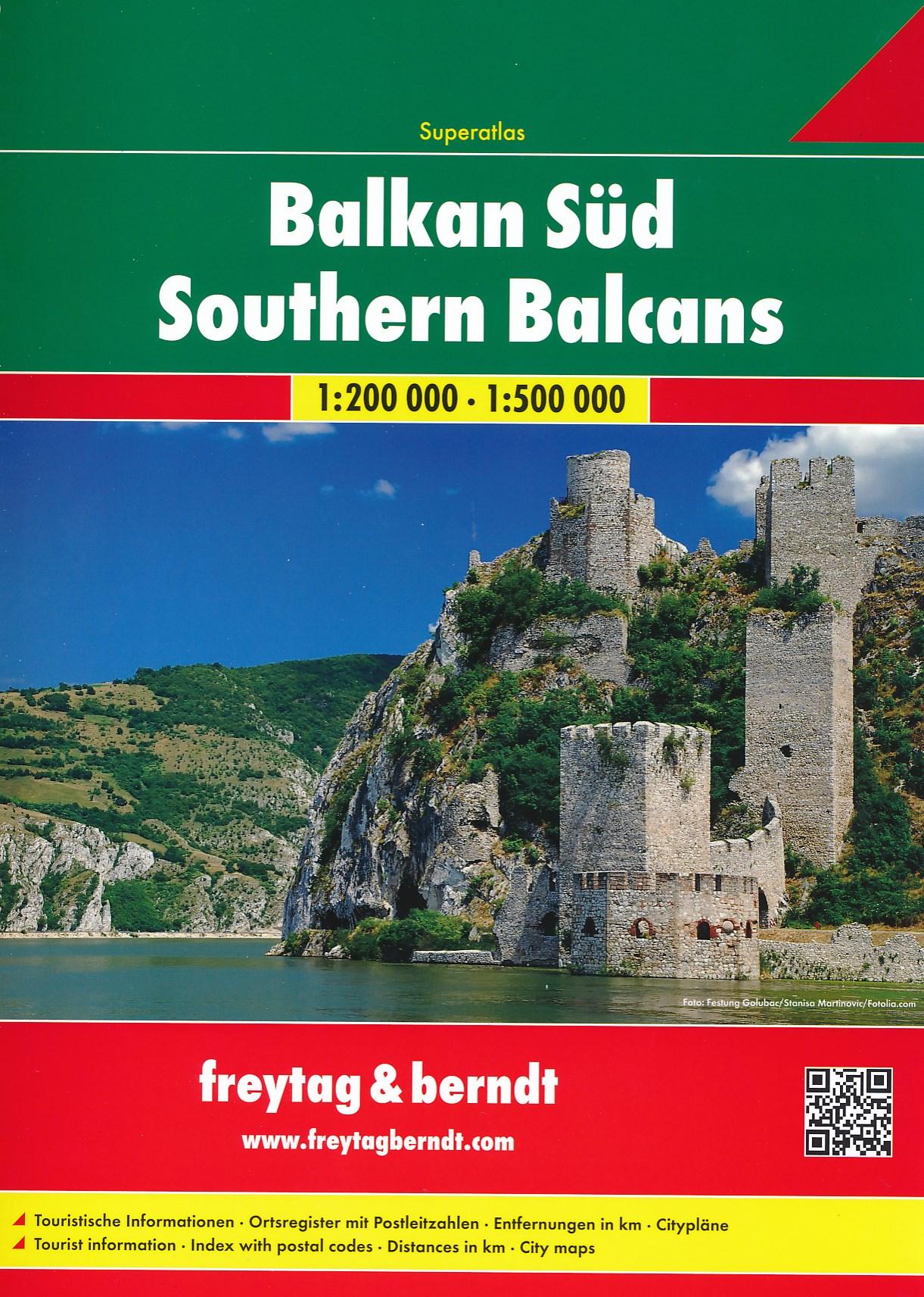 Wegenatlas Balkan Süd - Balkan Zuid Superatlas   Freytag & Berndt