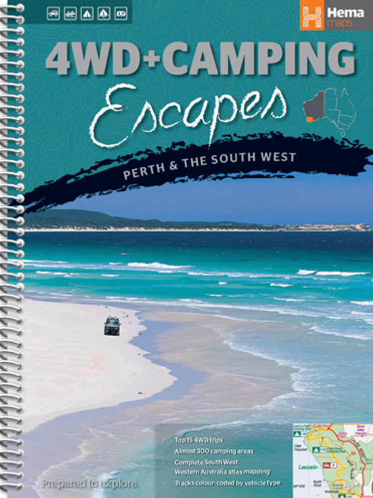 Wegenatlas Campinggids 4WD + Camping Escapes - Perth & the South West   Hema