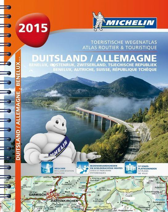 Wegenatlas Duitsland Benelux Zwitserland Oostenrijk Tsjechie 2015   Michelin