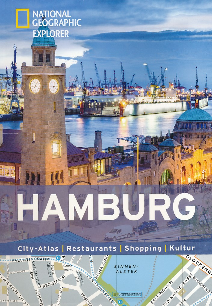 Reisgids + plattegrond Hamburg in kaart   National Geographic